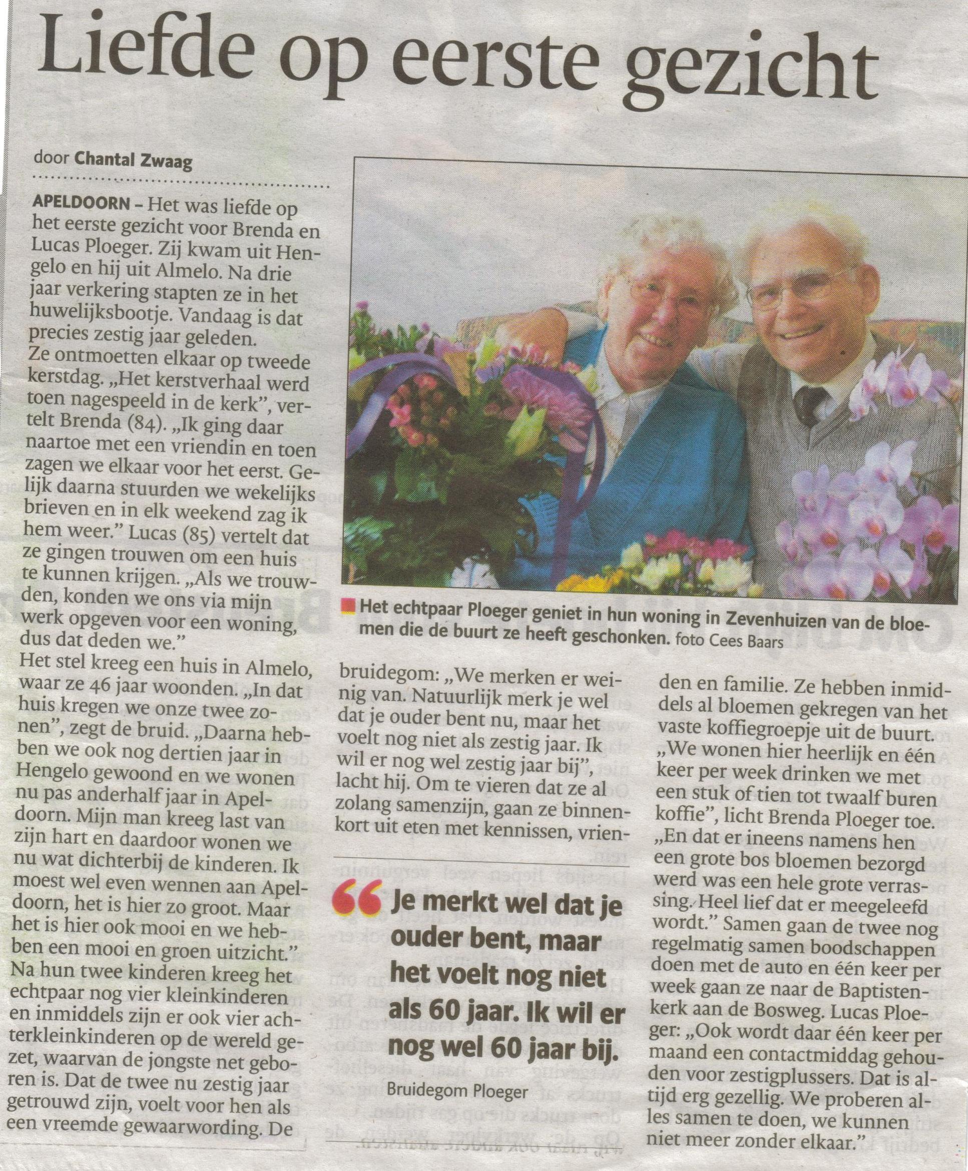 1- fam. ploeger 60 jr getrouwd (voor krant 2 oktober)