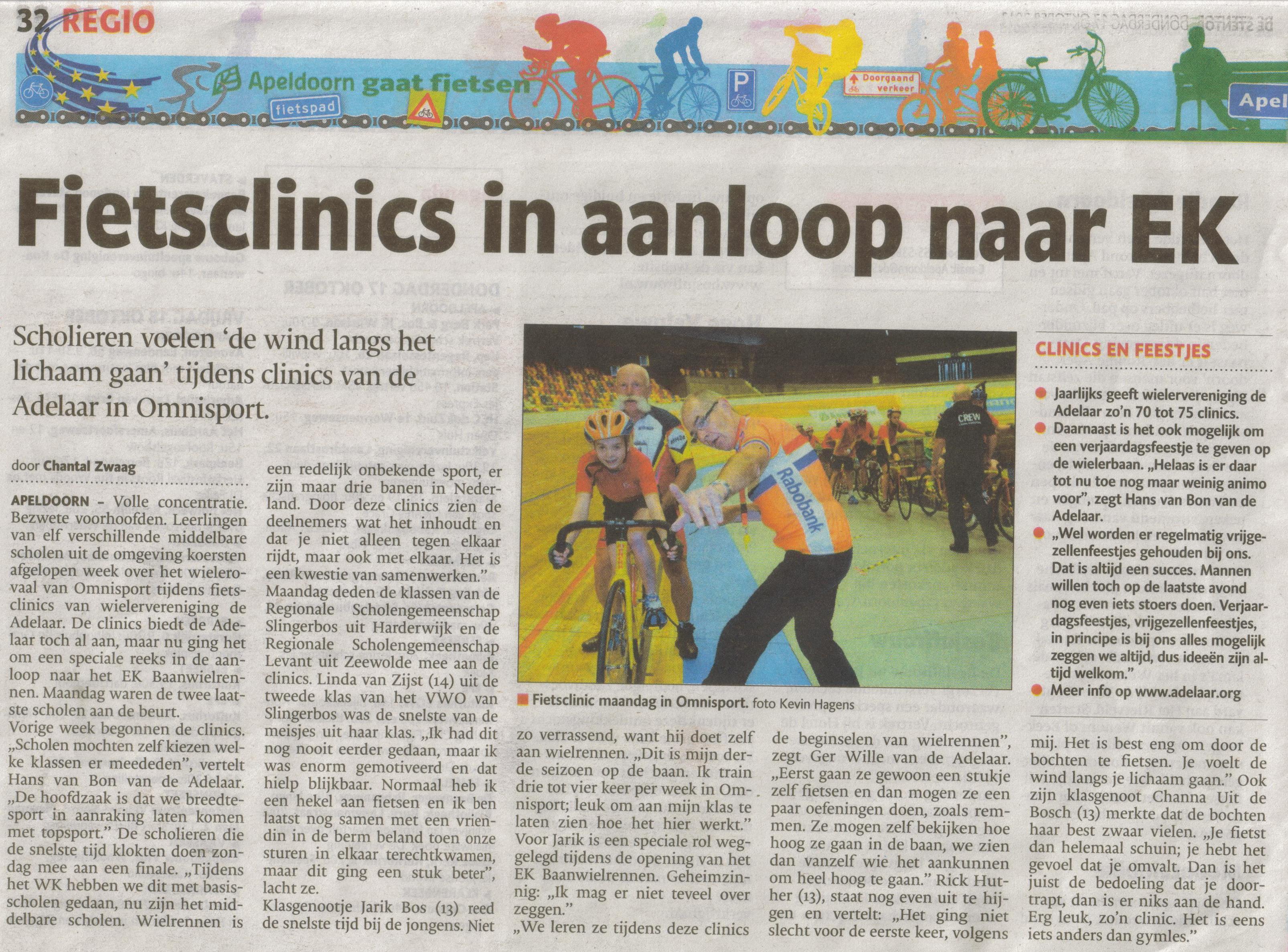 10- fietsclinics- maandag 14 okt heen- bijzondere productie- publicatiedatum 17 oktober 2013