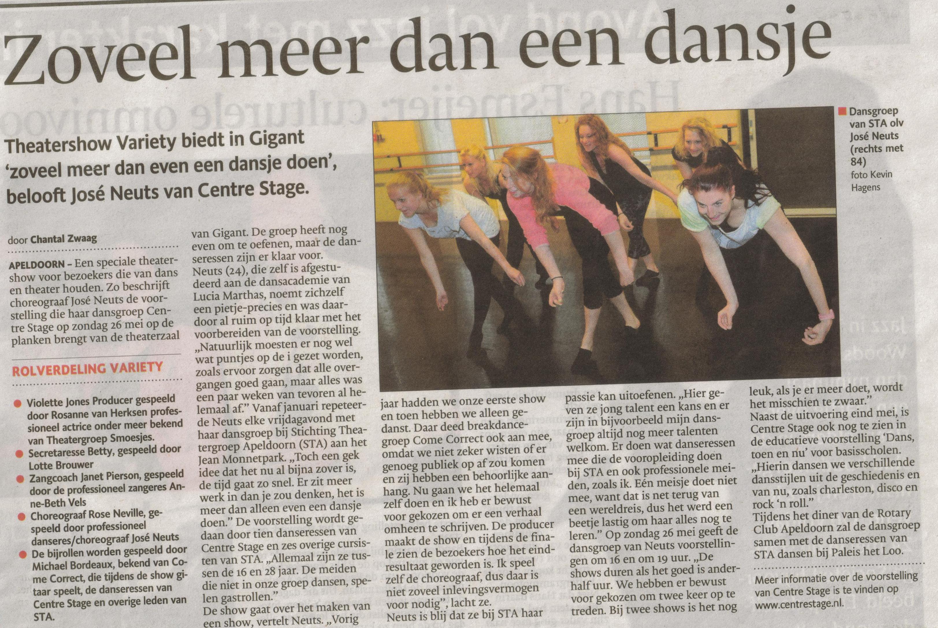 12- dansvoorstelling jose neuts-bijzondere productie-publicatiedatum 17 mei 2013