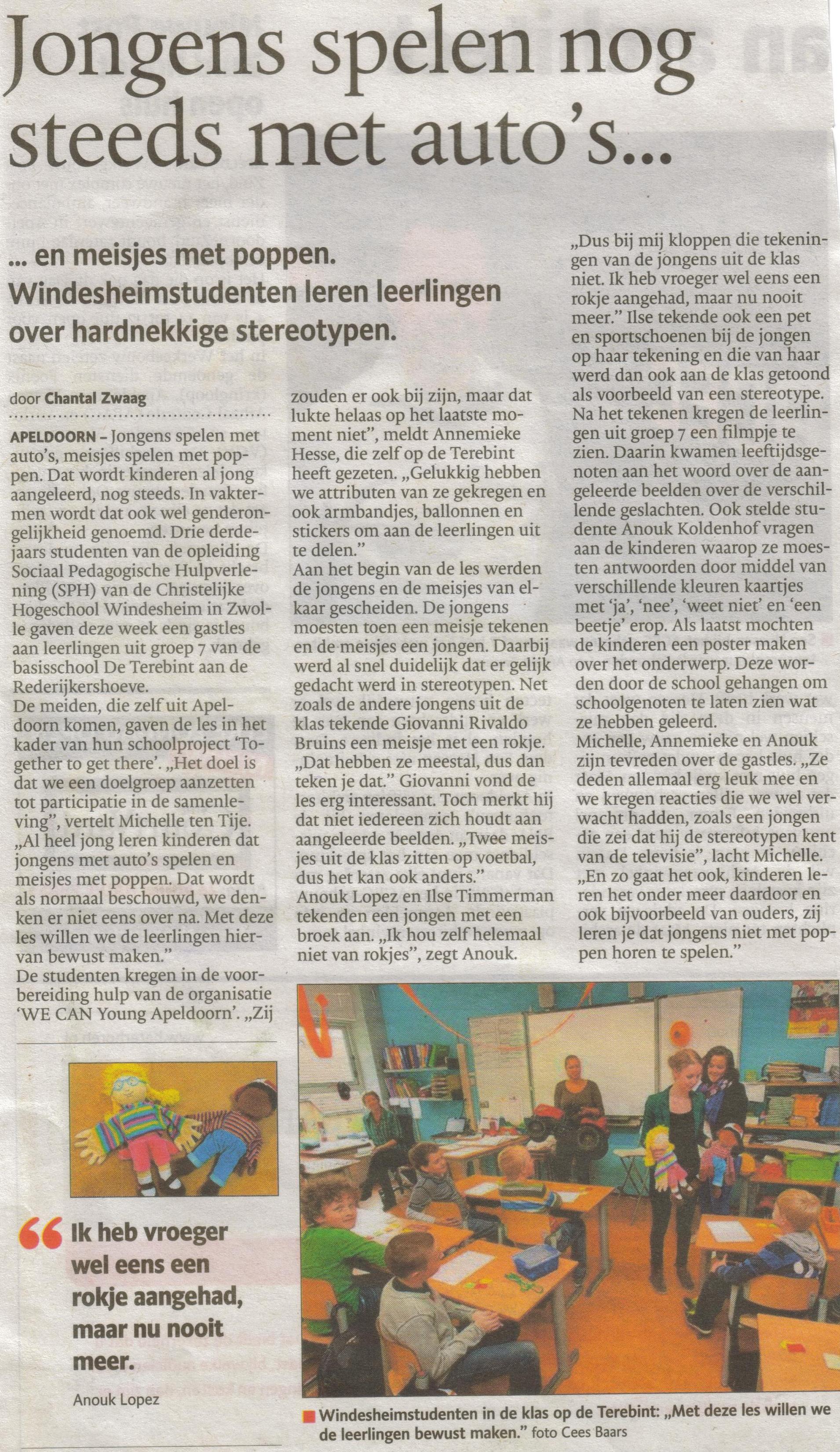 17- genderongelijkheid scholen- voorlichting windesheimstudenten-publicatiedatum 25 mei 2013