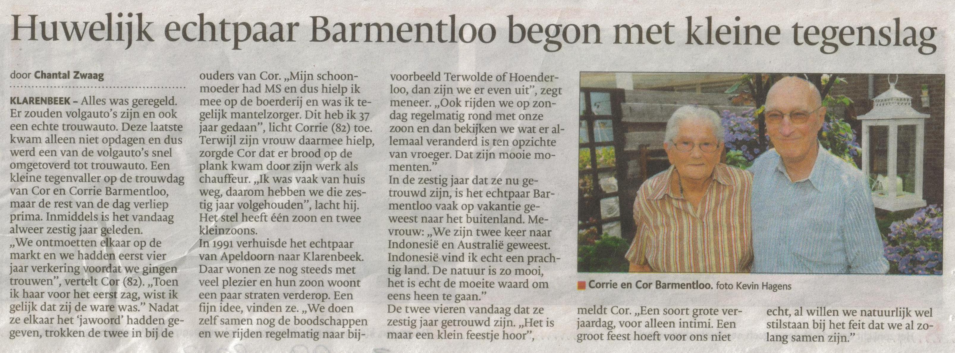 Bron: De Stentor Apeldoorn 3 september 2013