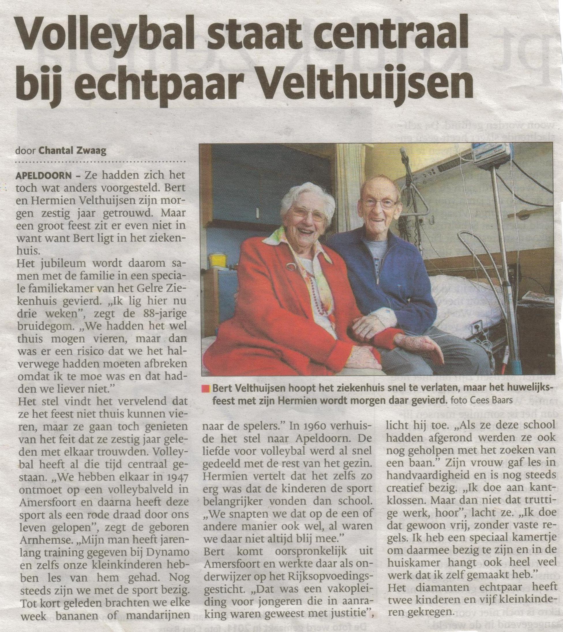 Bron: De Stentor Apeldoorn 7 september 2013