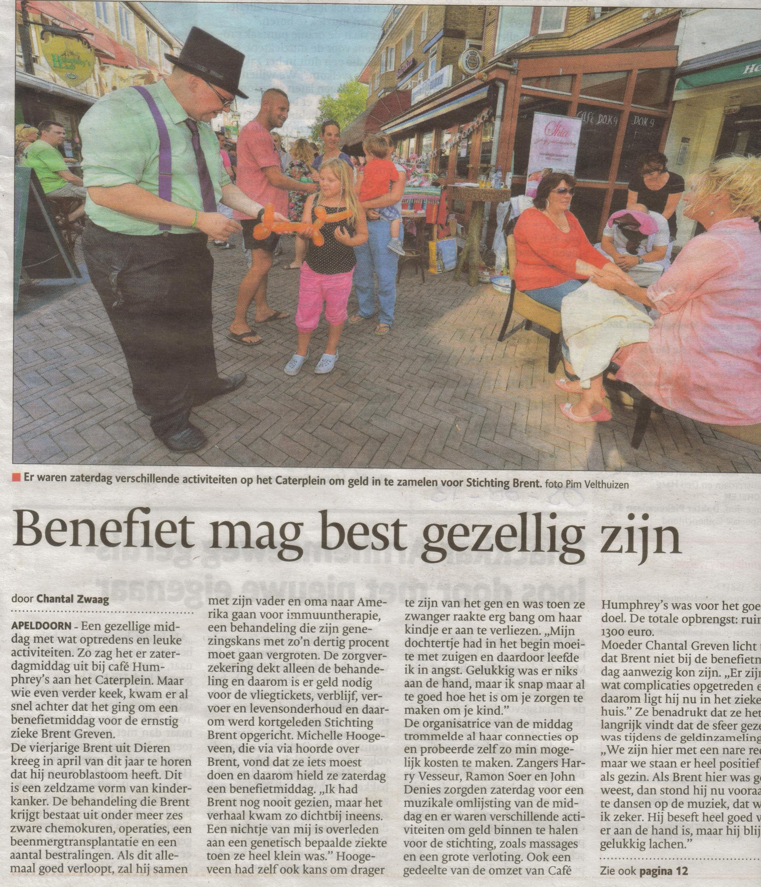 Bron: De Stentor Apeldoorn 5 augustus 2013