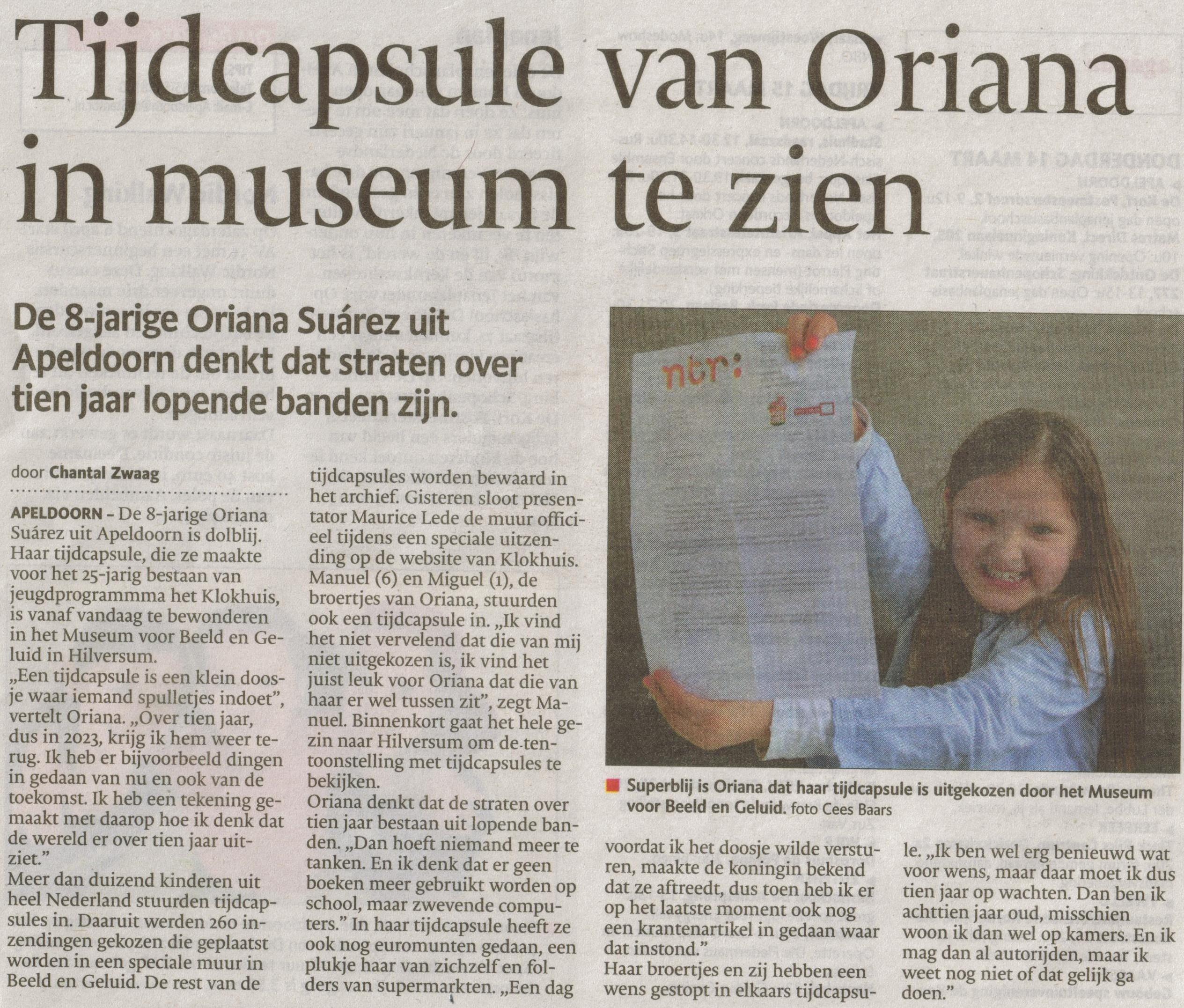 Bron: De Stentor Apeldoorn 14 maart 2013
