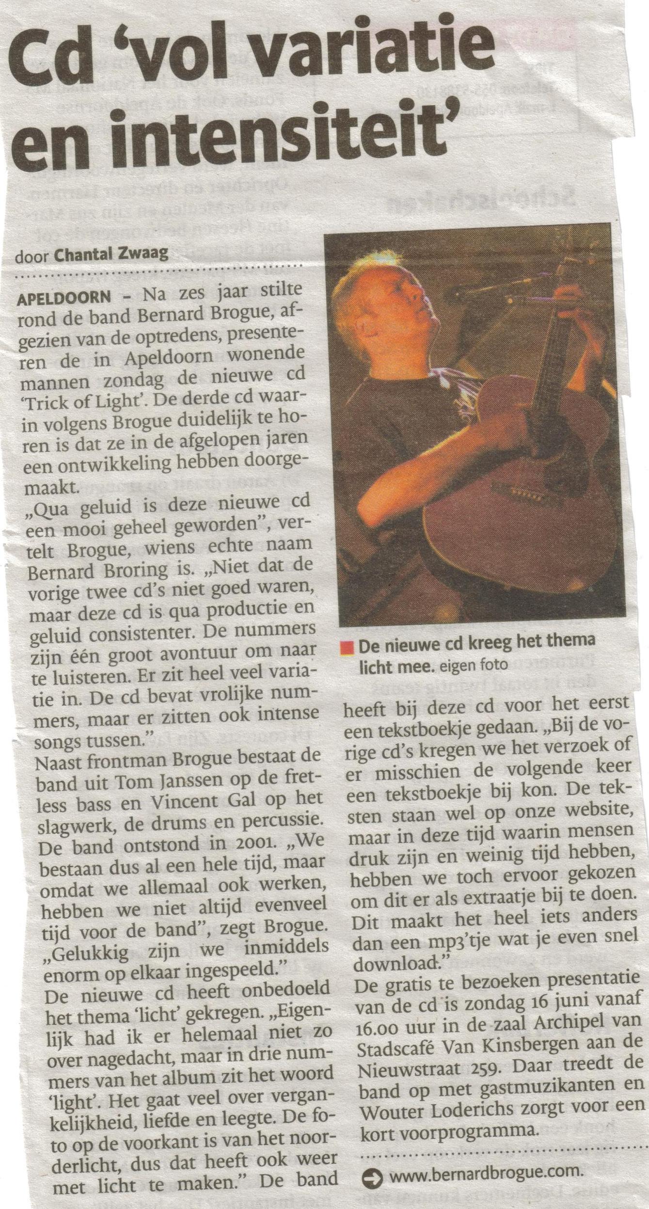 6- cd presentatie bernard brogue- di 11 juni id krant-bijzondere productie