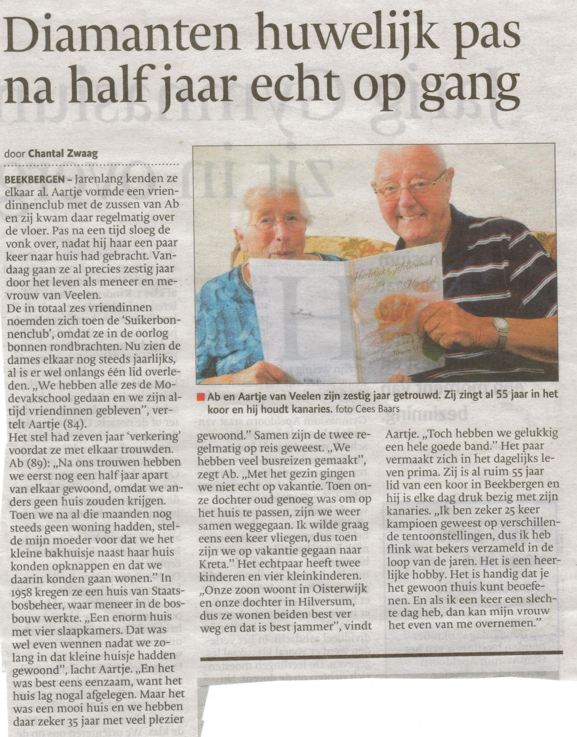 Bron: De Stentor Apeldoorn 17 september 2013
