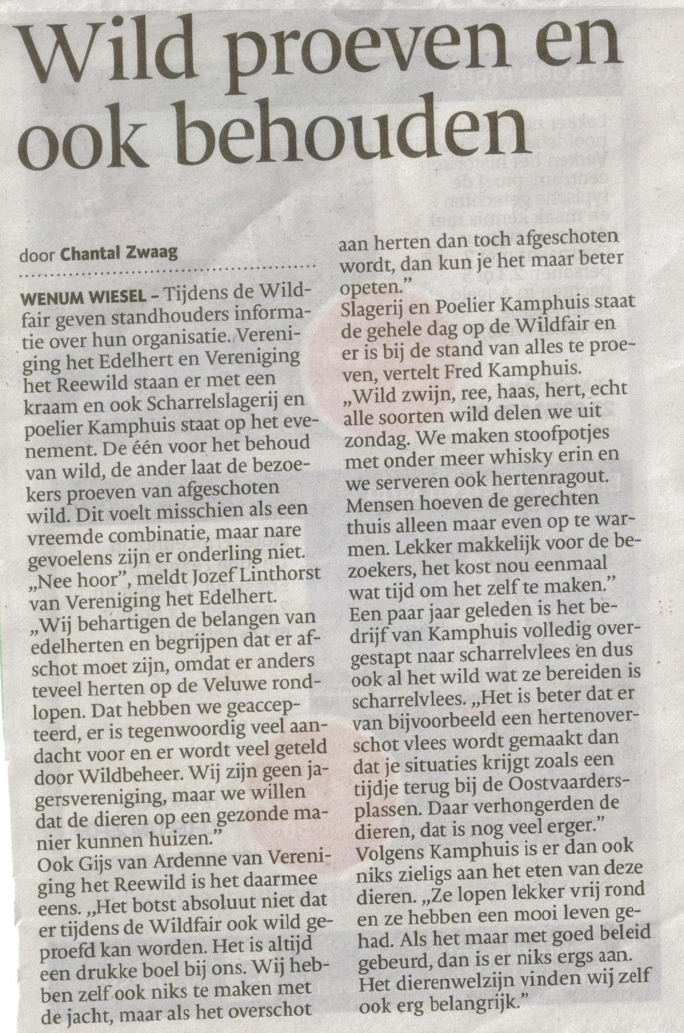 Bron: De Stentor Apeldoorn 25 september 2013