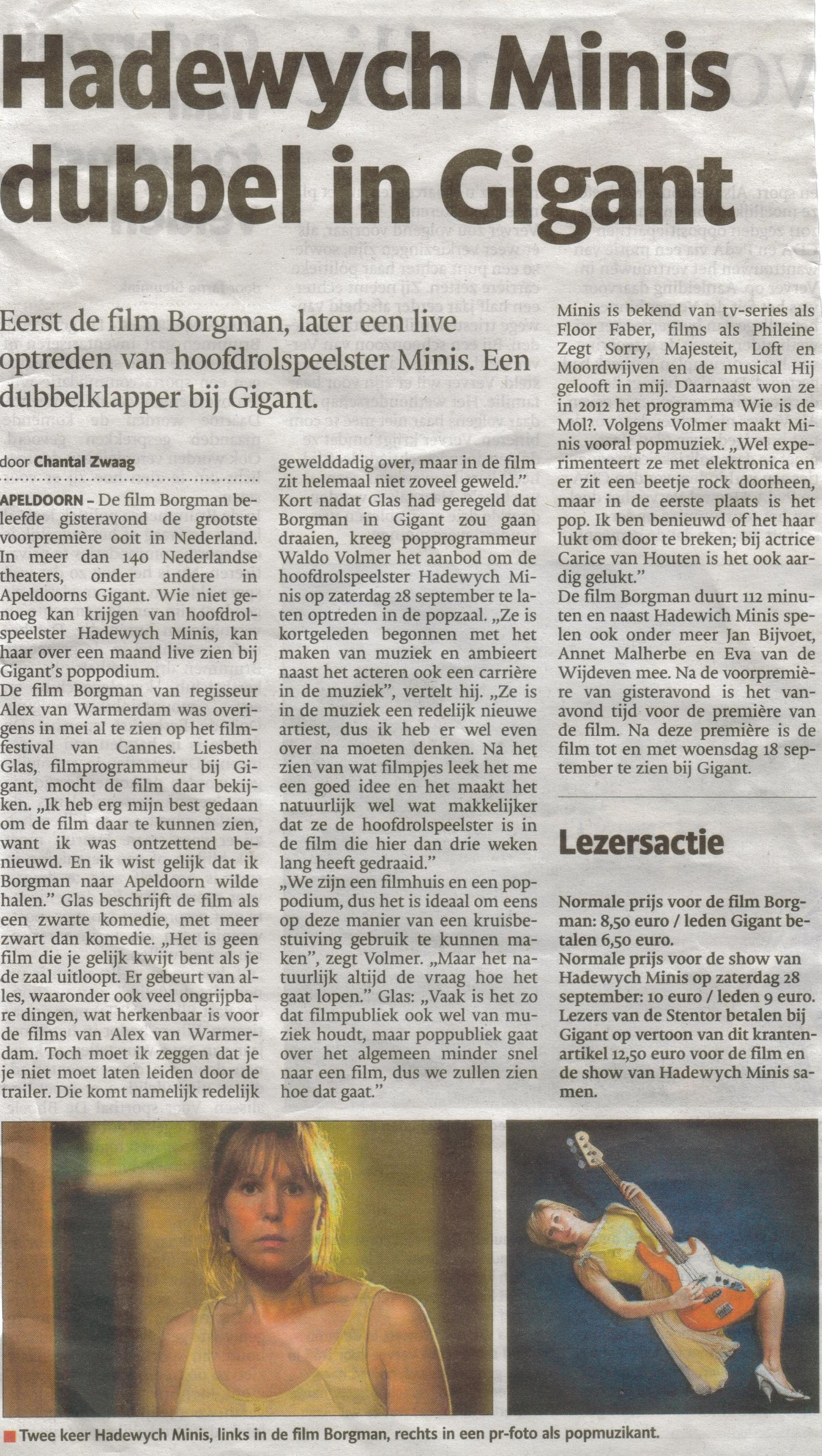 Bron: De Stentor Apeldoorn 29 augustus 2013