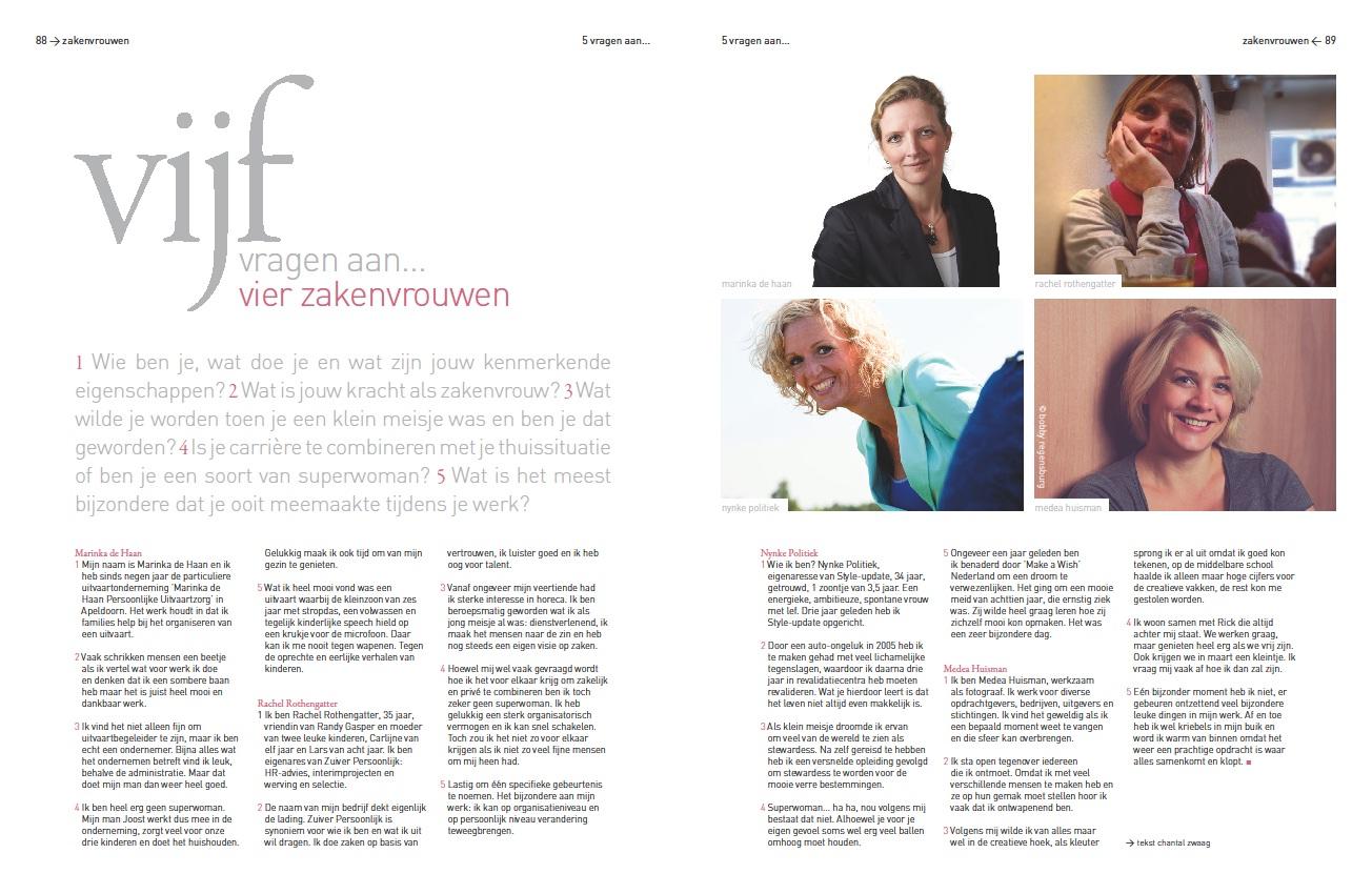 vijf vragen aan vier zakenvrouwen